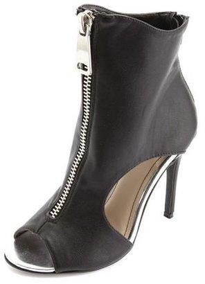 Charlotte Russe Zip-Up Cut-Out Peep Toe Heels