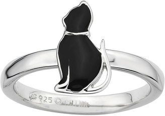 FINE JEWELRY Personally Stackable Sterling Silver Cat Ring $83.32 thestylecure.com