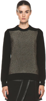 Proenza Schouler Crewneck Side Zip Sweater in Black