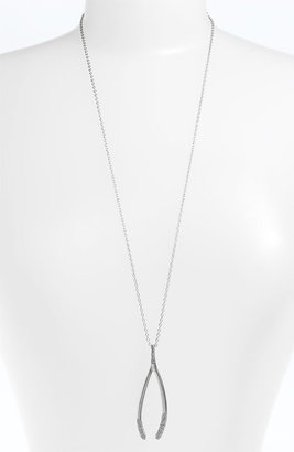 House Of Harlow 'Pave Dipped Wishbone' Pendant Necklace