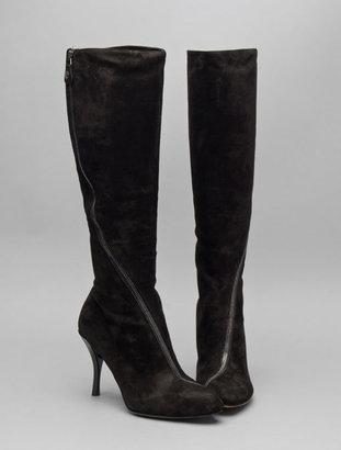 Modern Vintage Zulmira Asymmetrical Zip Boot in Black Suede