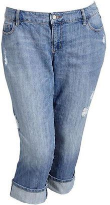 Old Navy Women's Plus Distressed Denim Capris