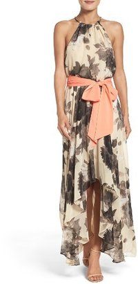 Women's Eliza J Floral Print Chiffon Maxi Dress $138 thestylecure.com