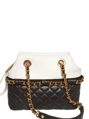 Moschino Two Tone Quilted Nappa Shoulder Bag