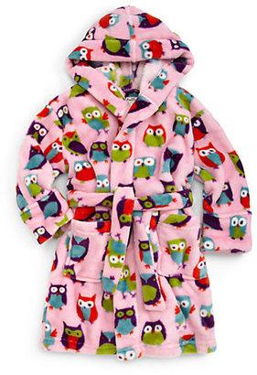 Hatley Toddler's & Little Girl's Owl Fleece Robe