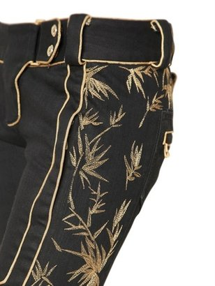 Balmain Lurex Embroidered Cotton Denim Jeans