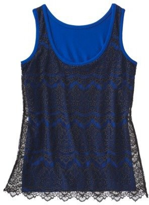 Mossimo Women's Sleeveless Lace Tank Top - Assorted Colors