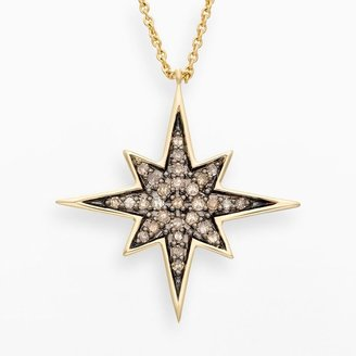 JLO by Jennifer Lopez Jlove by 10k gold 1/7-ct. t.w. champagne diamond starburst pendant