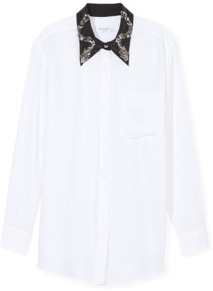 Equipment Daddy Embellished Collar Blouse