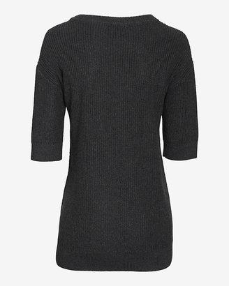Exclusive for Intermix Cascade Hem Short Sleeve Knit Sweater