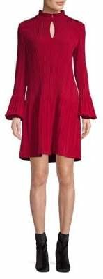 Maje Rockally Pleated Dress