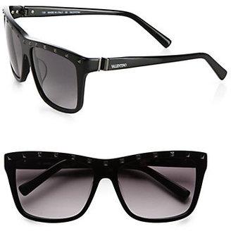 Valentino Rock Stud Square Wayfarer Sunglasses
