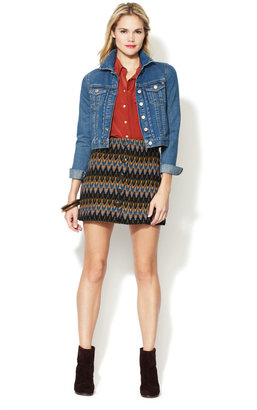 Free People Retro Button Up Skirt