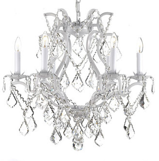 Bed Bath & Beyond Gallery Wrought Iron and Crystal 6-Light Chandelier