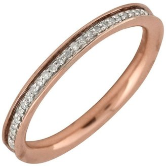 Simply Stacks Sterling 18K Gold-Plated 2.25mm Diamond Band