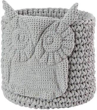 Wee Woodland Crochet Bin (Grey Owl) $45 thestylecure.com
