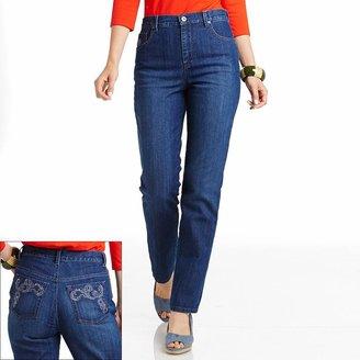 Gloria Vanderbilt amanda embroidered tapered jeans