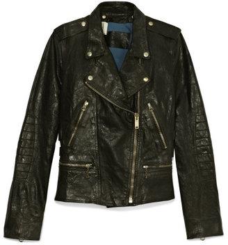 Golden Goose Chiodo Golden Leather Jacket