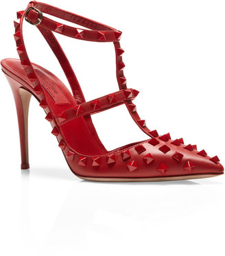 Valentino Studded Leather Pumps