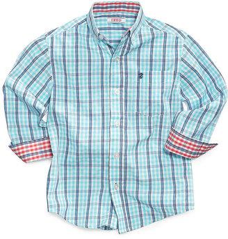 Izod Little Boys' Plaid Woven Shirt