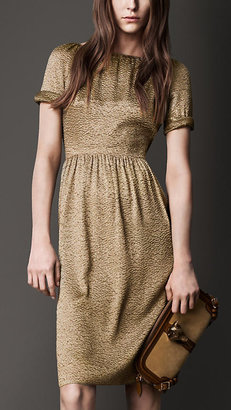 Burberry Crinkle Lamé Dress