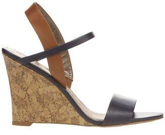 LOFT Ashlyn Colorblocked Slingback Wedge Sandals