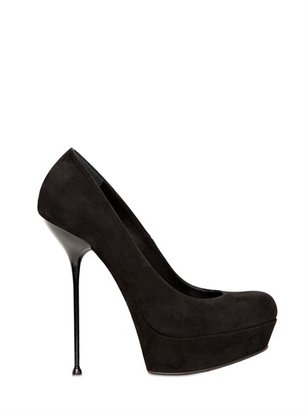 Gianmarco Lorenzi 140mm Suede Stiletto Pumps