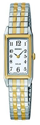 Seiko Women's SUP242 Expansion Two-Tone Watch $85 thestylecure.com