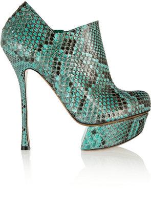 Nicholas Kirkwood Python ankle boots