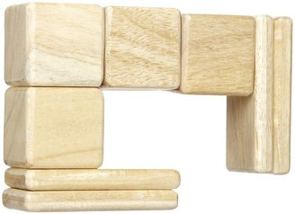 Green Baby Tegu Pocket Pouch Natural Magnetic Blocks (8 pc)