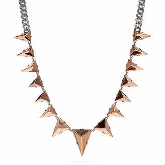 Coach Pyramid Metal Necklace