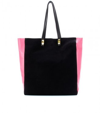 Marni Edition Two-tone leather and suede shopper