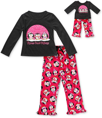 Dollie & Me Kids Pajamas, Girls or Little Girls Penguin 2-Piece PJs and Doll Outfit