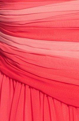 Monique Lhuillier Bridesmaids Ombré Chiffon Gown