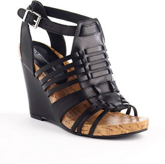BCBGeneration Blayne Strappy Leather Wedge Sandals