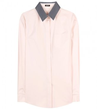 Jil Sander Navy TWO-TONE BLOUSE