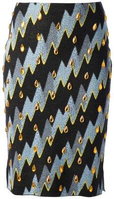 Kenzo 'Lightening Bolt' skirt