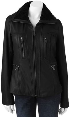 London Fog Towne by leather jacket - women's