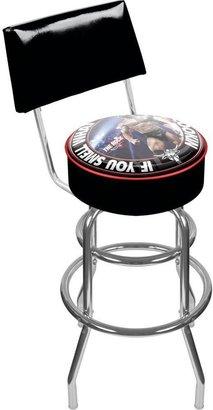WWE Trademark The Rock Padded Swivel Bar Stool with Back II