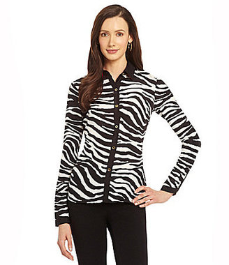 Jones New York Collection Zebra-Print Blouse