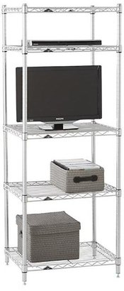Container Store Entertainment Center Silver