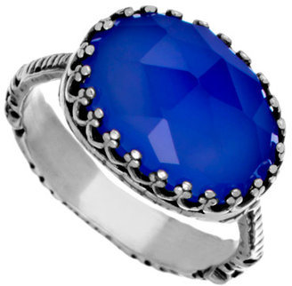 Becky Kelso Oval Indigo Calcite Ring