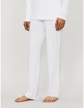 Derek Rose Men's Blue Basel Casual Trousers, Size: L