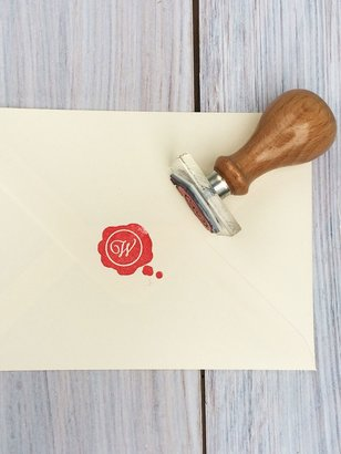 StompStamps Personalised Wax Seal Style Initial Stamp