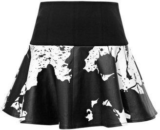 Tibi Preorder Plash Stretch Twill Yoked Skirt