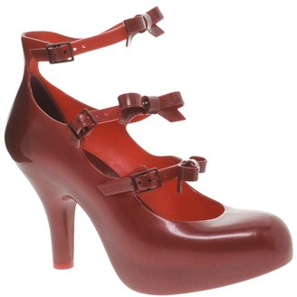 Melissa 3 Strap Elevated Bow Court Shoes