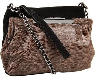 Foley + Corinna Double Clutch Demi (Black/Brown Lizard) - Bags and Luggage
