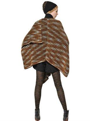 Missoni Wool Cashmere Knit Cape Shawl
