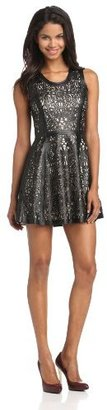 Parker Women's Flavia Leather Perforated Dress