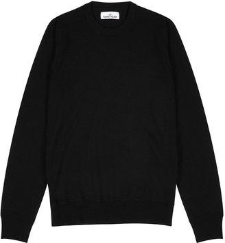 Stone Island Black Fine-knit Wool Jumper